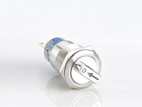 Stainless steel 2/3 position selector push button switch